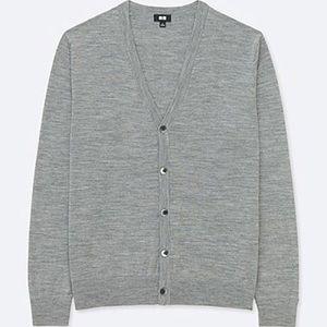 NWT UNIQLO Grey Cardigan